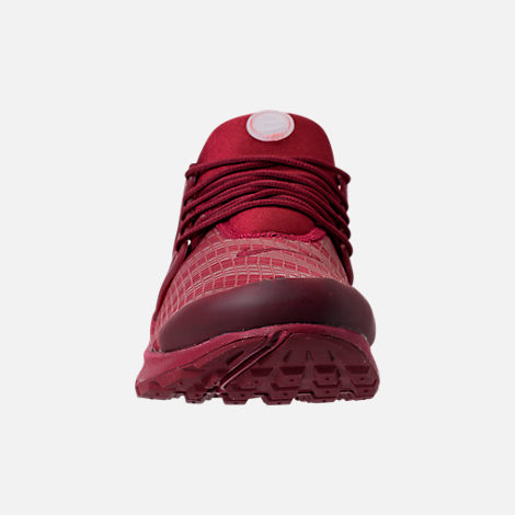 Front view of Men's Nike Air Presto Low Utility Casual Shoes in Team Red/White