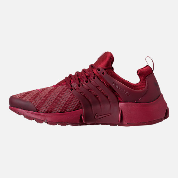 Left view of Men's Nike Air Presto Low Utility Casual Shoes in Team Red/White
