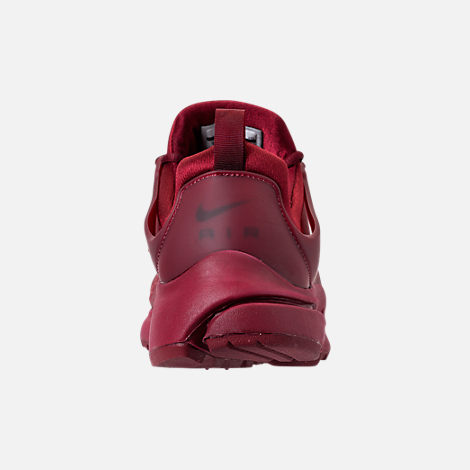 Back view of Men's Nike Air Presto Low Utility Casual Shoes in Team Red/White