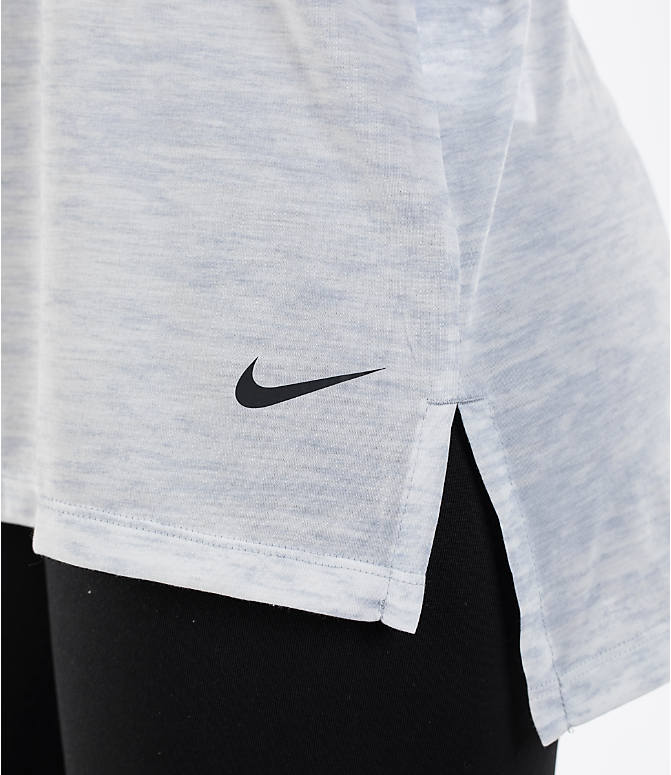 Detail 1 view of Women's Nike Breathe Training Tank in Wolf Grey/Black