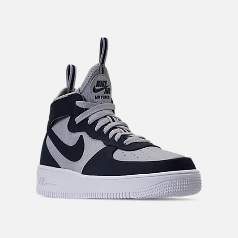 Mens Nike Air Force 1 Ultraforce Mid Casual White/Pure Platinum/Volt 864014 102