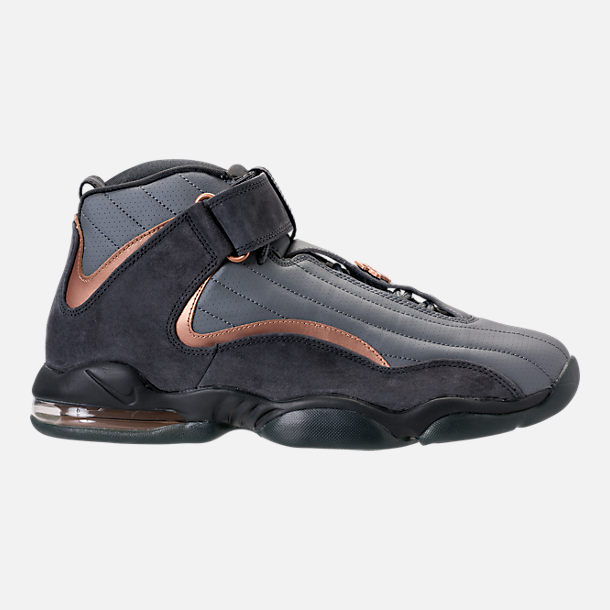 Right view of Men's Nike Air Penny IV Basketball Shoes in Wolf  Grey/Metallic Copper