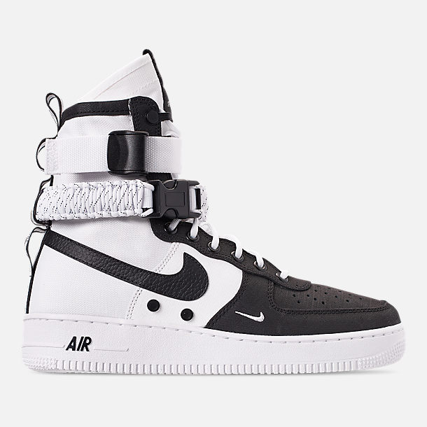 sneakers for cheap 8caed 65aae Right view of Mens Nike SF Air Force 1 Boots in WhiteBlackWhite