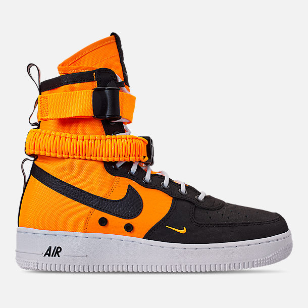 Right view of Mens Nike SF Air Force 1 Boots in Laser OrangeBlack