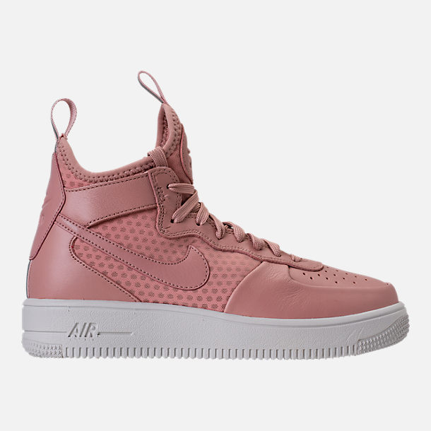 Right view of Women's Nike Air Force 1 Ultraforce Mid Casual Shoes in Particle Pink/Sail