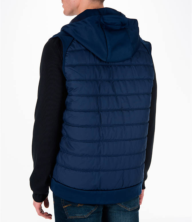 Back Left view of Men's Nike Winterized Therma Training Vest in Blue