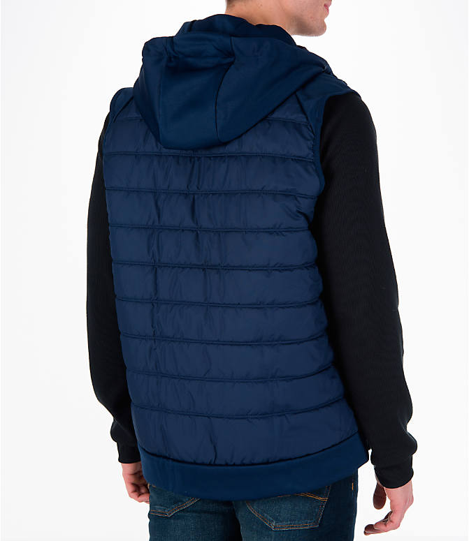 Back Right view of Men's Nike Winterized Therma Training Vest in Blue