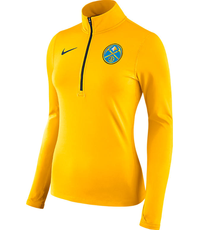 Front view of Women's Nike Denver Nuggets NBA Dry Element Half-Zip Top in Team Colors