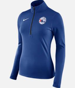 Women's Nike Philadelphia 76ers NBA Dry Element Half-Zip Top