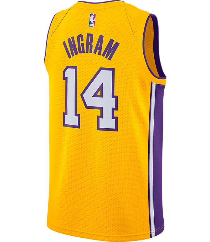 9c6ec7da3d6 Front view of Men's Nike Los Angeles Lakers NBA Brandon Ingram Association  Edition Connected Jersey