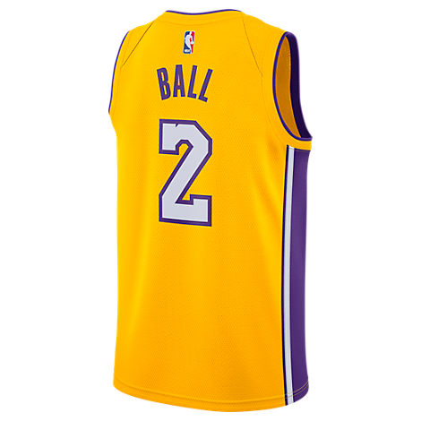 MEN'S LOS ANGELES LAKERS NBA LONZO BALL ASSOCIATION EDITION CONNECTED JERSEY, YELLOW