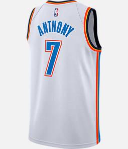 Men's Nike Oklahoma City Thunder NBA Carmelo Anthony Association Connected Jersey