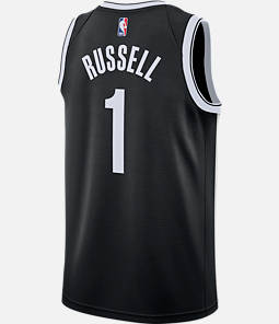 Men s Nike Brooklyn Nets NBA D Angelo Russell Icon Edition Connected ... 55756084f