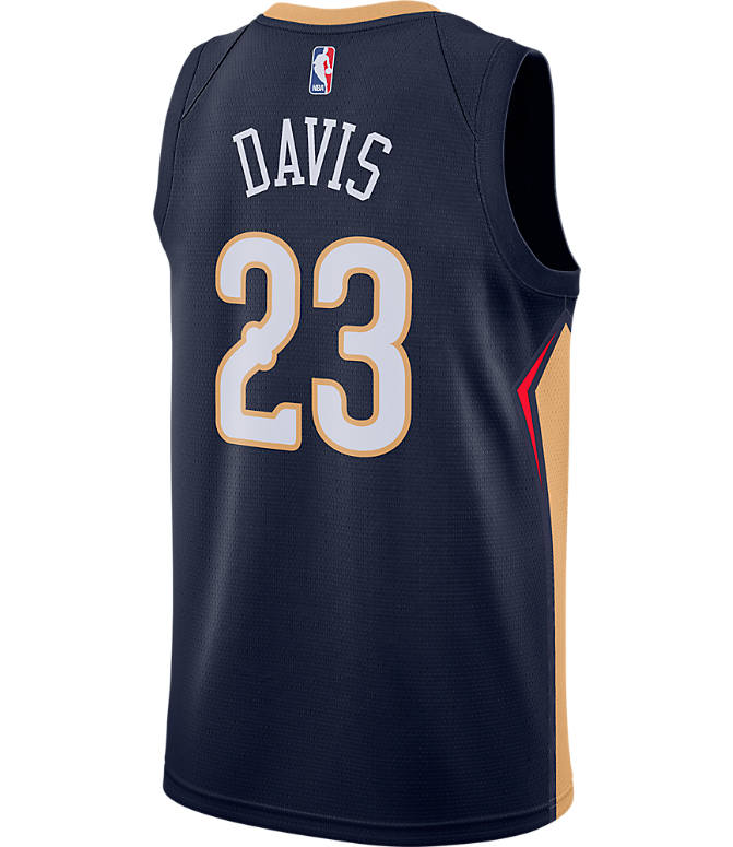 17475ce56a4 Front view of Men's Nike New Orleans Pelicans NBA Anthony Davis Icon Edition  Connected Jersey in