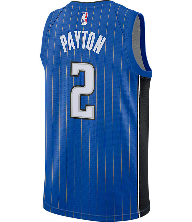 Front view of Men's Nike Orlando Magic NBA Elfrid Payton Icon Edition Connected Jersey in Game Royal/Black/White