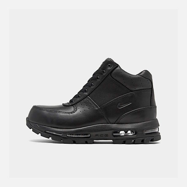 Right view of Men's Nike Air Max Goadome Boots in Black/Black/Black