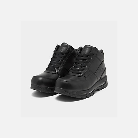 Three Quarter view of Men's Nike Air Max Goadome Boots in Black/Black/Black