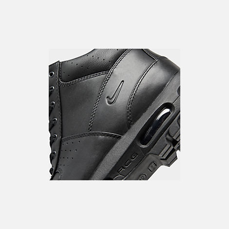 Front view of Men's Nike Air Max Goadome Boots in Black/Black/Black