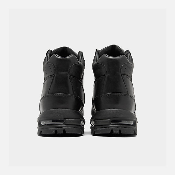 Left view of Men's Nike Air Max Goadome Boots in Black/Black/Black