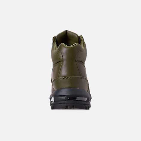 38705becccef3d Back view of Men s Nike Air Max Goadome Boots in Olive Canvas Anthracite