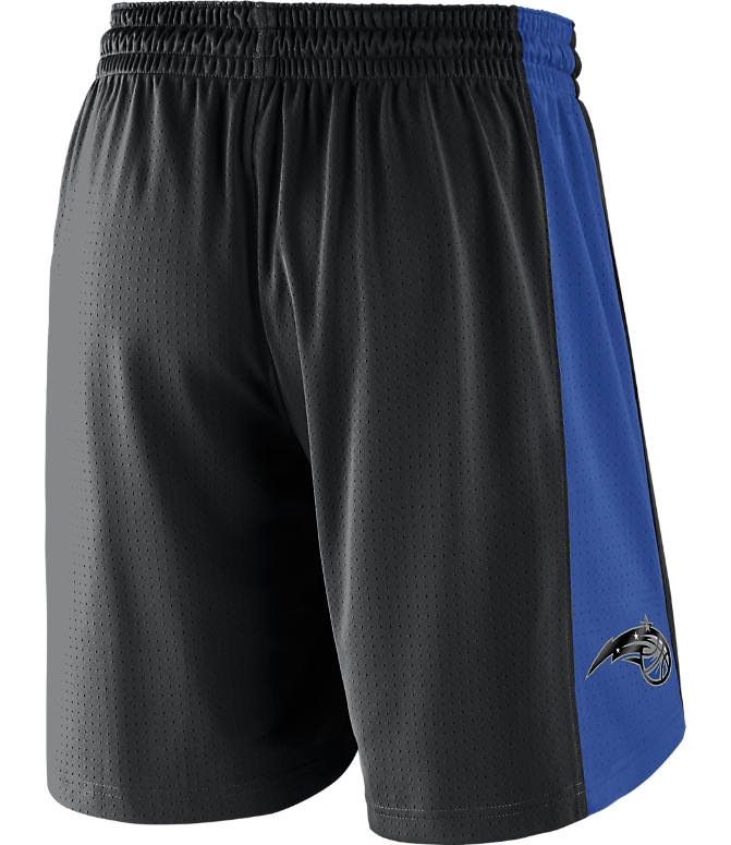 Front view of Men's Nike Orlando Magic NBA Practice Shorts in Black/Game Royal