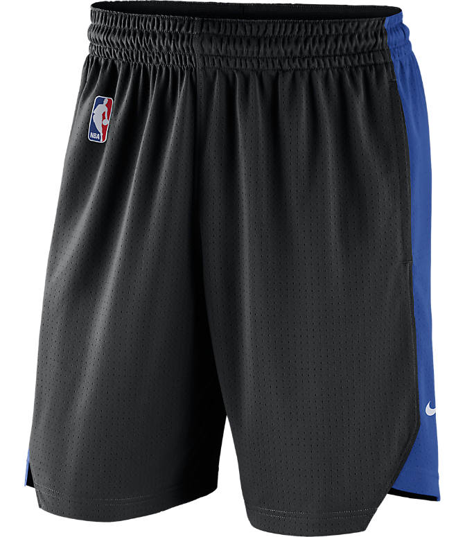 Back view of Men's Nike Orlando Magic NBA Practice Shorts in Black/Game Royal