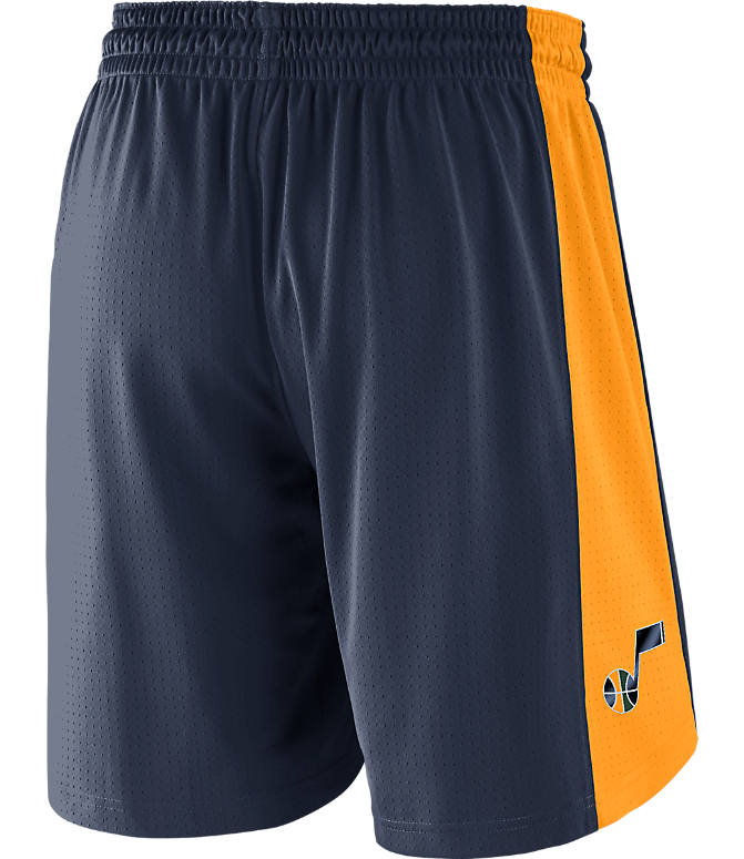 Front view of Men's Nike Utah Jazz NBA Practice Shorts in College Navy/Fir