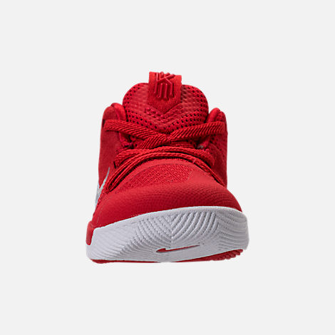 d3abb92ea Front view of Boys  Toddler Nike Kyrie 3 Basketball Shoes in University  Red Wolf