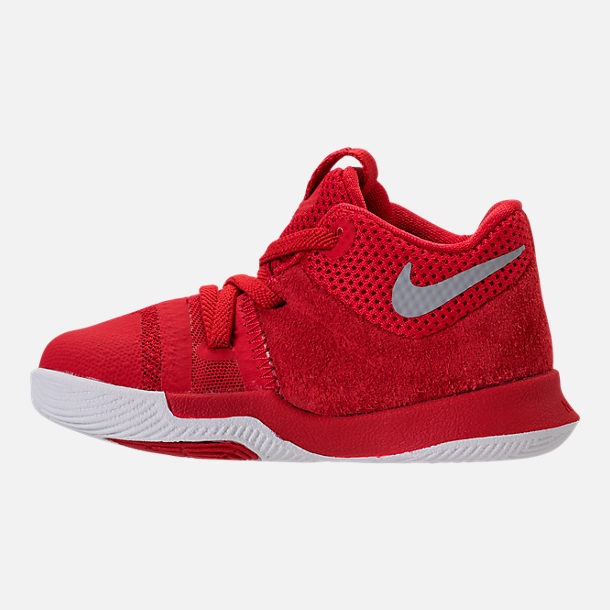 info for 537d3 c08cb Left view of Boys  Toddler Nike Kyrie 3 Basketball Shoes in University Red  Wolf