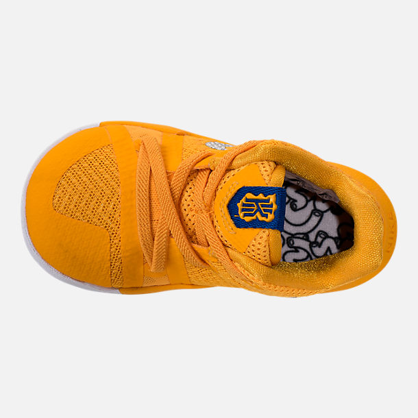 f1f9c1446 ... ebay top view of boys toddler nike kyrie 3 basketball shoes in  university gold chrome c2cc7