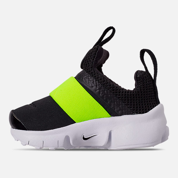 Left view of Boys' Toddler Nike Presto Extreme Casual Shoes in Black/Volt Black/White