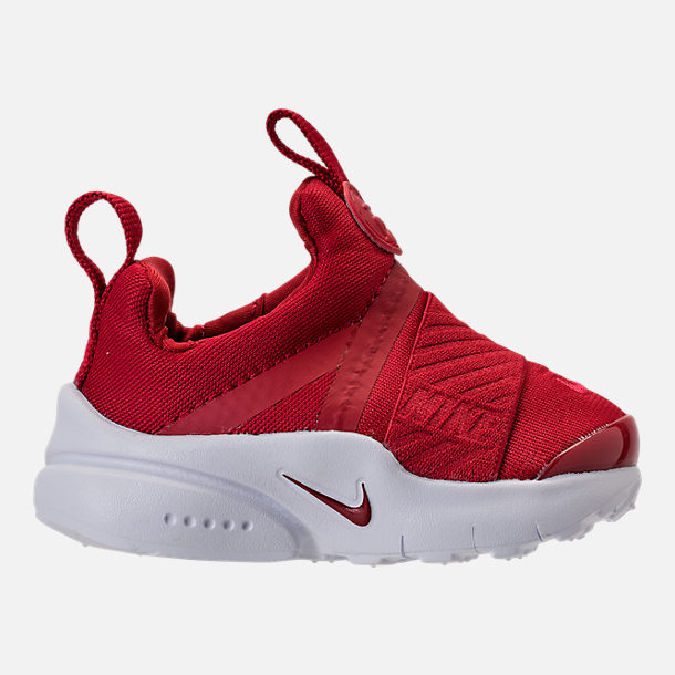 Right view of Boys' Toddler Nike Presto Extreme Running Shoes in Gym Red/Gym Red/White/Black