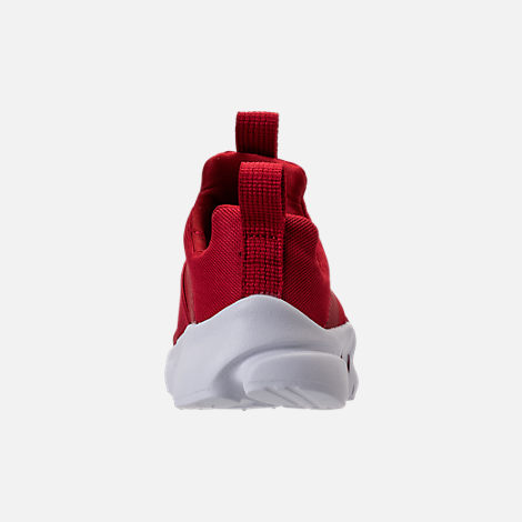 Back view of Boys' Toddler Nike Presto Extreme Running Shoes in Gym Red/Gym Red/White/Black