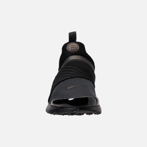 Front view of Boys' Big Kids' Nike Presto Extreme Running Shoes in Black/Black/Black