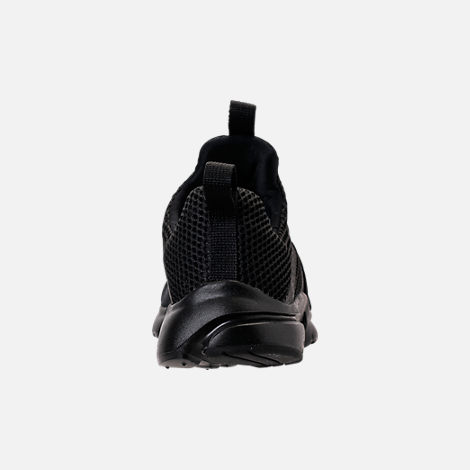 Back view of Boys' Big Kids' Nike Presto Extreme Running Shoes in Black/Black/Black