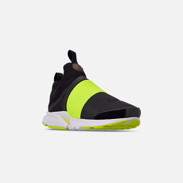 new styles 437a8 9acfb Three Quarter view of Big Kids  Nike Presto Extreme Casual Shoes in Black  Volt