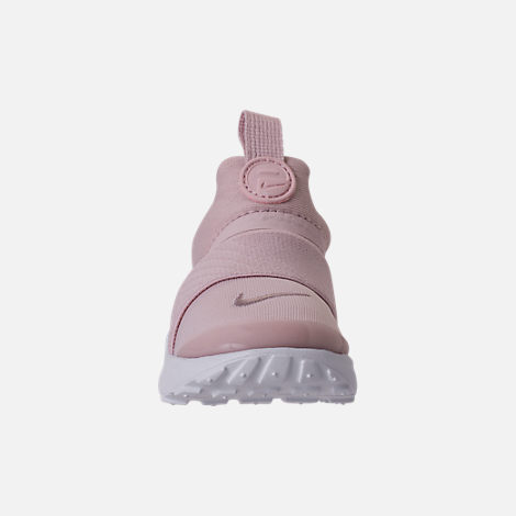 Front view of Girls' Toddler Nike Presto Extreme Running Shoes in Barely Rose/White/Black