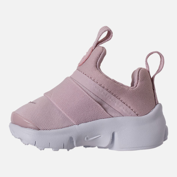 Left view of Girls' Toddler Nike Presto Extreme Running Shoes in Barely Rose/White/Black
