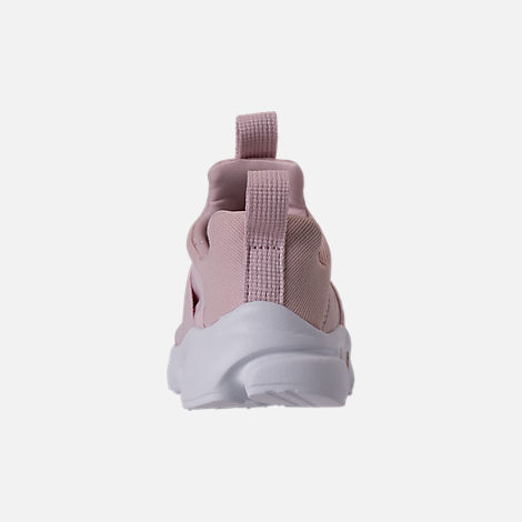 Back view of Girls' Toddler Nike Presto Extreme Running Shoes in Barely Rose/White/Black