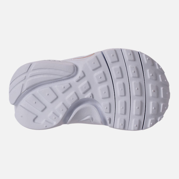 Bottom view of Girls' Toddler Nike Presto Extreme Running Shoes in Barely Rose/White/Black