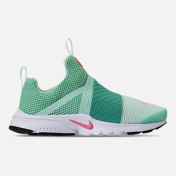 Right view of Girls' Big Kids' Nike Presto Extreme Running Shoes in Emerald Rise/Igloo