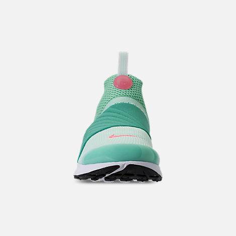 Front view of Girls' Big Kids' Nike Presto Extreme Running Shoes in Emerald Rise/Igloo
