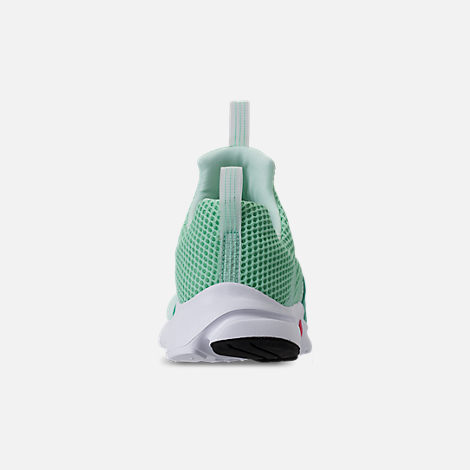 Back view of Girls' Big Kids' Nike Presto Extreme Running Shoes in Emerald Rise/Igloo