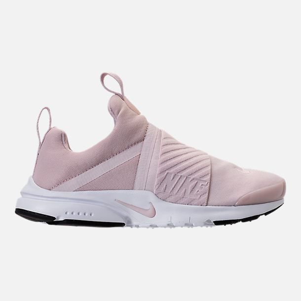Right view of Girls' Grade School Nike Presto Extreme Running Shoes in Barely Rose/White/Black