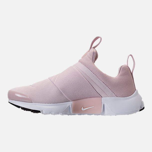 Left view of Girls' Grade School Nike Presto Extreme Running Shoes in Barely Rose/White/Black