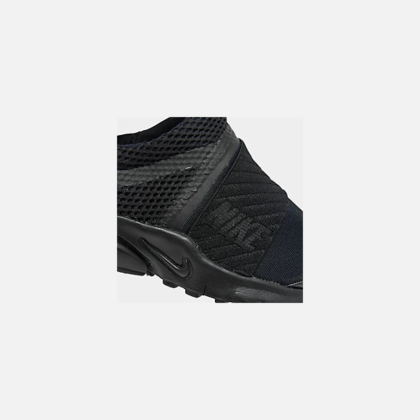 Front view of Little Kids' Nike Presto Extreme Casual Shoes in Black/Black/Black