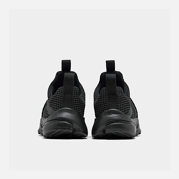Left view of Boys' Little Kids' Nike Presto Extreme Running Shoes in Black/Black/Black