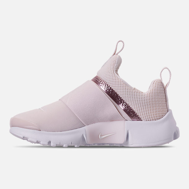 Left view of Girls' Little Kids' Nike Presto Extreme Casual Shoes in Phantom/Phantom/Metallic Red Bronze