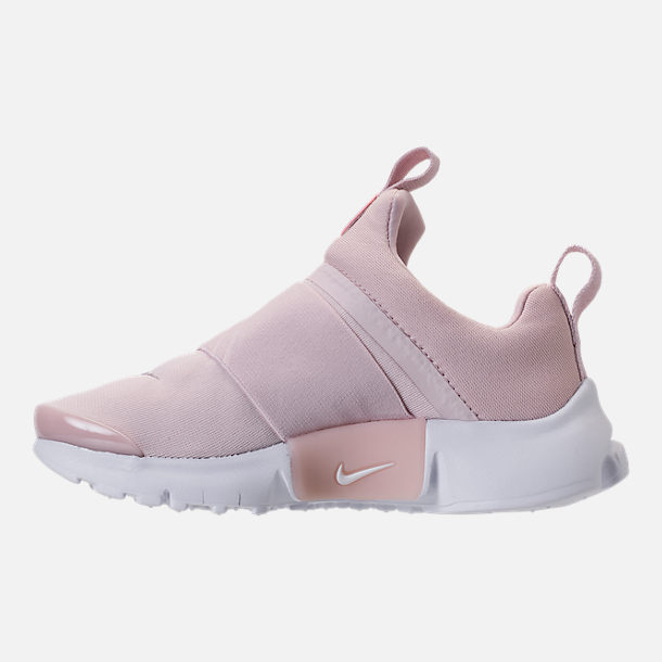 newest 67b30 95d4c Left view of Girls  Preschool Nike Presto Extreme Running Shoes in Barely  Rose White