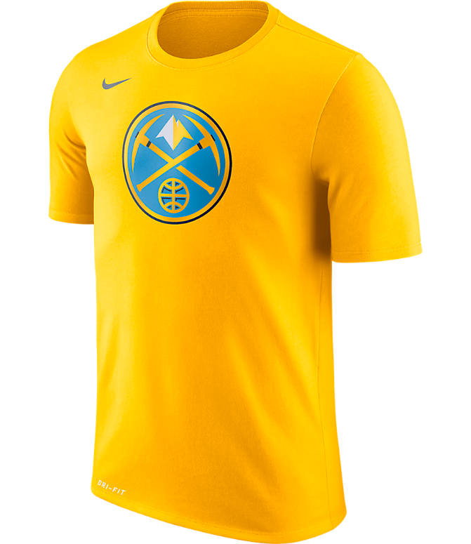 Front view of Men's Nike Denver Nuggets NBA Logo T-Shirt in Amarillo
